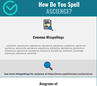 Correct spelling for ascience