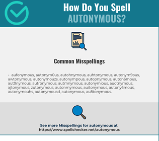 Correct spelling for autonymous