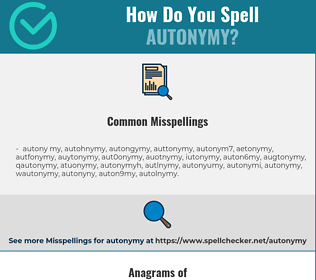 Correct spelling for autonymy