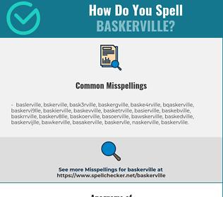 Correct spelling for baskerville