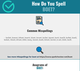 Correct spelling for boet