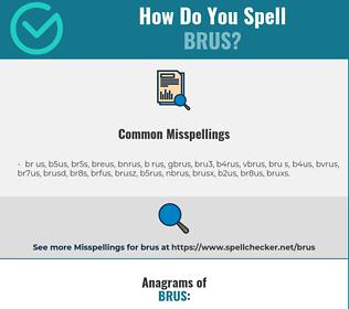 Correct spelling for brus