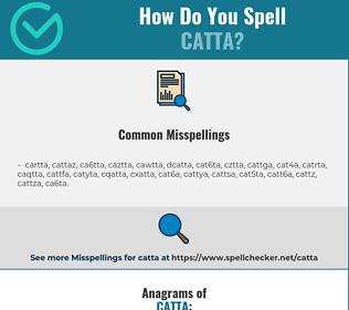 Correct spelling for catta