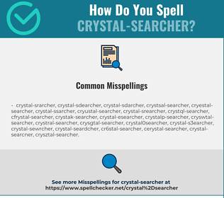 Correct spelling for crystal-searcher