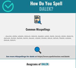 Correct spelling for dalek