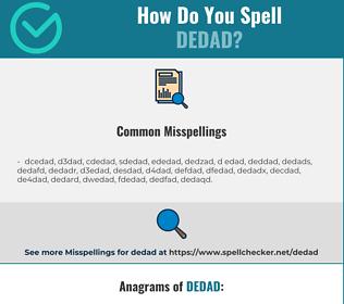 Correct spelling for dedad