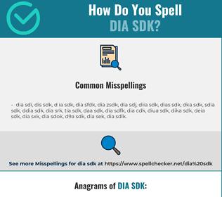 Correct spelling for dia sdk