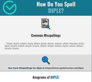Correct spelling for diple