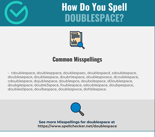 Correct spelling for doublespace