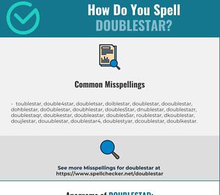 Correct spelling for doublestar