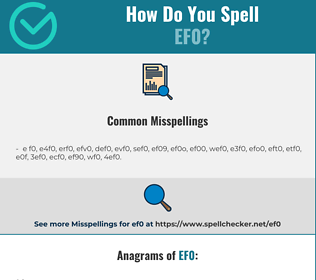 Correct spelling for ef0