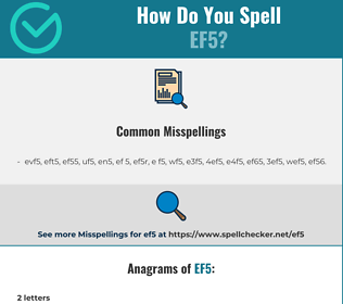 Correct spelling for ef5