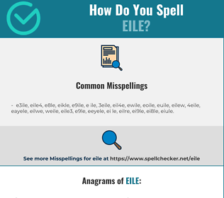 Correct spelling for eile