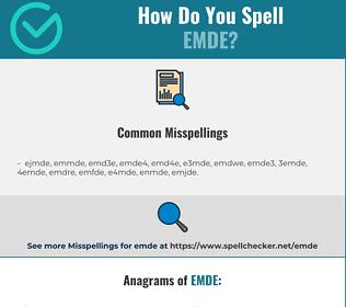 Correct spelling for emde