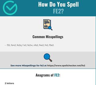 Correct spelling for fe2