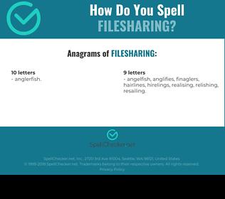Correct spelling for filesharing