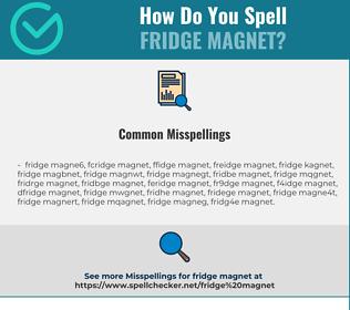 Correct spelling for fridge magnet