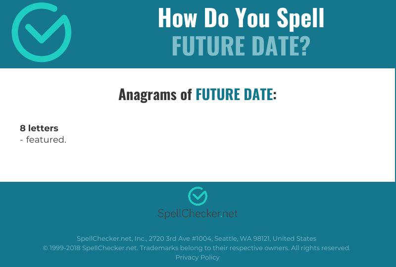 Correct spelling for future date [Infographic] | Spellchecker net