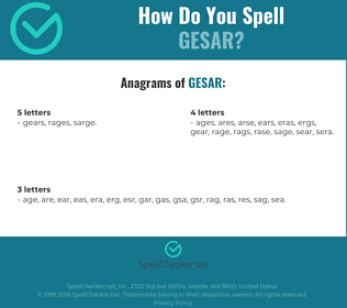 Correct spelling for gesar