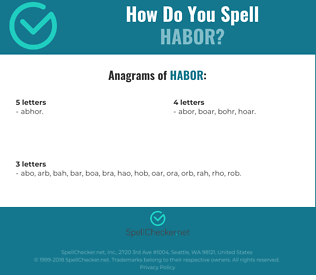 Correct spelling for habor