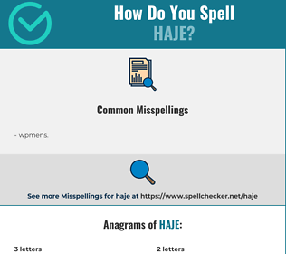 Correct spelling for haje
