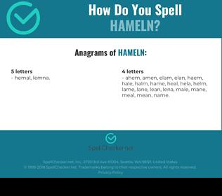 Correct spelling for hameln