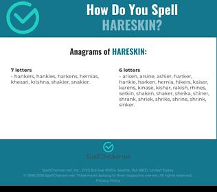 Correct spelling for hareskin