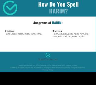 Correct spelling for harim