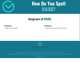 Correct spelling for haub