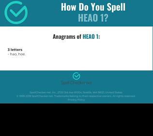 Correct spelling for heao 1