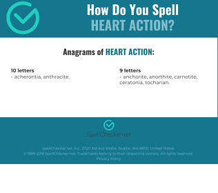 Correct spelling for heart action