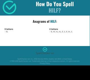 Correct spelling for hilf