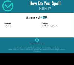 Correct spelling for hofu