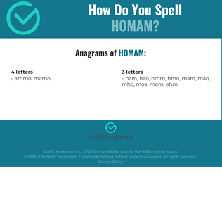 Correct spelling for homam