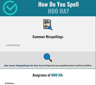 Correct spelling for hoo ha