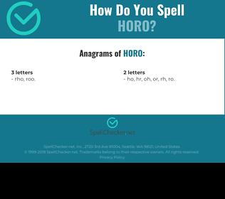 Correct spelling for horo