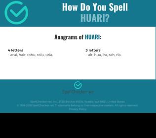 Correct spelling for huari