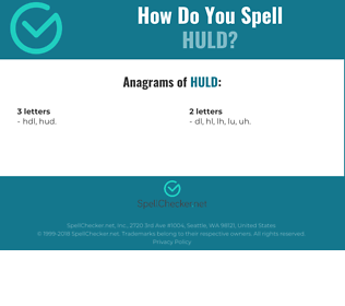 Correct spelling for huld