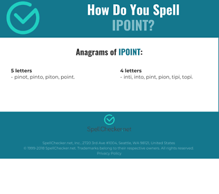 Correct spelling for iPOINT