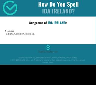 Correct spelling for ida ireland
