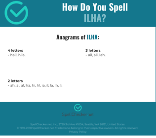 Correct spelling for ilha