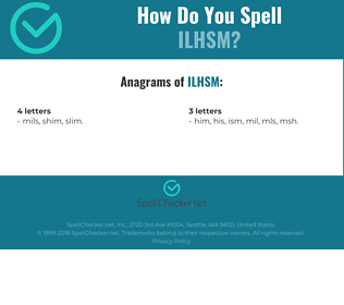 Correct spelling for ilhsm