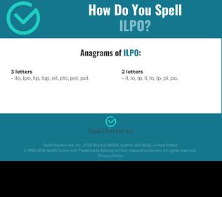Correct spelling for ilpo