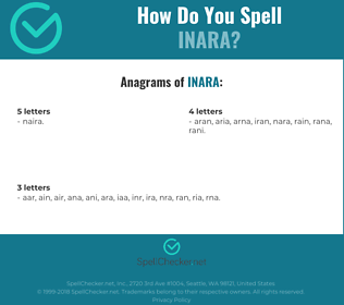 Correct spelling for inara