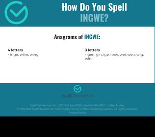 Correct spelling for ingwe
