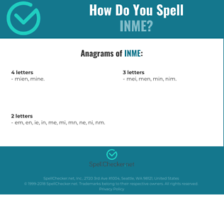Correct spelling for inme
