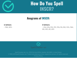 Correct spelling for inscr