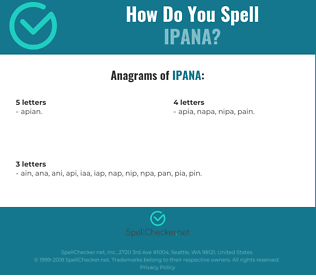 Correct spelling for ipana