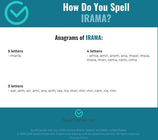 Correct spelling for irama