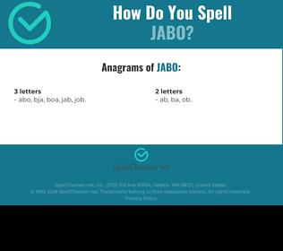 Correct spelling for jabo